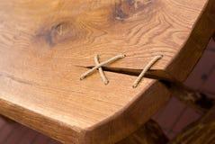 Tarjeta de madera zurcida Fotografía de archivo libre de regalías