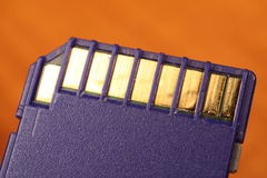 Tarjeta de memoria Imagen de archivo libre de regalías