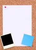 Tarjeta de mensaje Foto de archivo