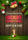 Tarjeta de mensaje de la Navidad Imagen de archivo libre de regalías