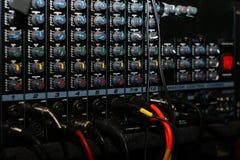 Tarjeta de mezcla, detalle Imagenes de archivo