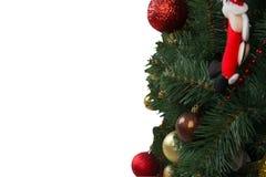 Tarjeta de Navidad, árbol de navidad adornado, Fotos de archivo libres de regalías