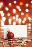 Tarjeta de Navidad. Fotografía de archivo libre de regalías