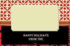 Tarjeta de Navidad Fotografía de archivo
