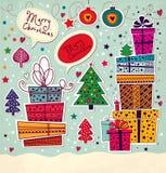 Tarjeta de Navidad ilustración del vector