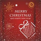 Tarjeta de Navidad Fotos de archivo