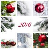 Tarjeta de Navidad 2016 Fotografía de archivo