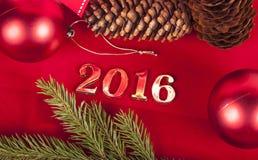 Tarjeta de Navidad 2016 Fotos de archivo