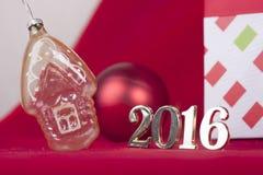 Tarjeta de Navidad 2016 Imagen de archivo libre de regalías