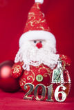 Tarjeta de Navidad 2016 Foto de archivo