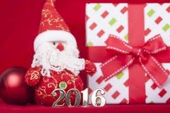 Tarjeta de Navidad 2016 Imagenes de archivo