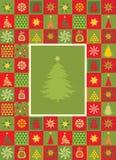 Tarjeta de Navidad stock de ilustración