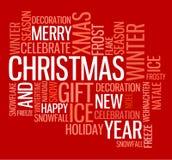 Tarjeta de Navidad abstracta stock de ilustración