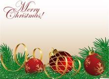 Tarjeta de Navidad abstracta Fotos de archivo libres de regalías