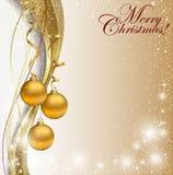 Tarjeta de Navidad abstracta Imagen de archivo libre de regalías