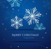 Tarjeta de Navidad abstracta con los copos de nieve Fotos de archivo