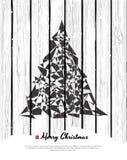 Tarjeta de Navidad abstracta con los elementos modernos. Fotos de archivo libres de regalías