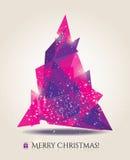 Tarjeta de Navidad abstracta con los elementos modernos. Foto de archivo libre de regalías