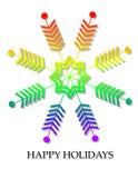 Tarjeta de Navidad alegre del copo de nieve del indicador del orgullo Imagen de archivo libre de regalías