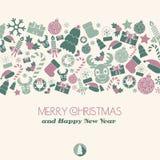Tarjeta de Navidad Artículos de la Navidad Fotos de archivo