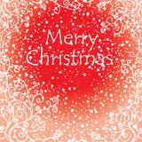 Tarjeta de Navidad artística Imágenes de archivo libres de regalías