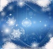 Tarjeta de Navidad azul Fotos de archivo libres de regalías