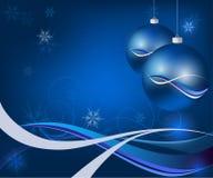 Tarjeta de Navidad azul Fotografía de archivo libre de regalías