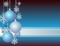 Tarjeta de Navidad azul Imagen de archivo
