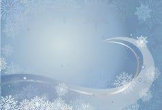 Tarjeta de Navidad azul stock de ilustración