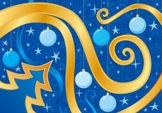 Tarjeta de Navidad azul foto de archivo libre de regalías