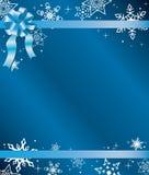 Tarjeta de Navidad azul con la cinta Fotografía de archivo libre de regalías