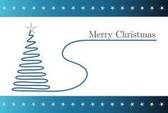 Tarjeta de Navidad azul simple Imágenes de archivo libres de regalías