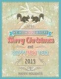 Tarjeta de Navidad beige con el ornamento decorativo, illustrat del vector Foto de archivo libre de regalías