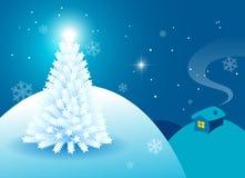 Tarjeta de Navidad blanca Imagen de archivo libre de regalías