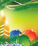 Tarjeta de Navidad brillante Fotografía de archivo libre de regalías