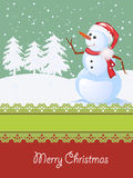 Tarjeta de Navidad, celebración del invierno Foto de archivo libre de regalías