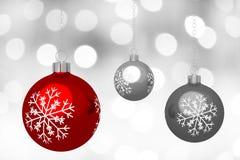 Tarjeta de Navidad - chucherías ilustración del vector