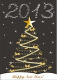 Tarjeta de Navidad con 2013 ilustración del vector