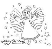 Tarjeta de Navidad con angal Fotos de archivo libres de regalías
