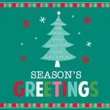 Tarjeta de Navidad con diseño del árbol Fotografía de archivo libre de regalías