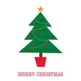Tarjeta de Navidad con diseño del árbol Fotos de archivo libres de regalías
