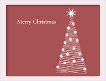 Tarjeta de Navidad con el árbol Imagen de archivo libre de regalías