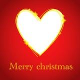 Tarjeta de Navidad con el agujero del corazón Foto de archivo libre de regalías