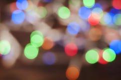 Tarjeta de Navidad con el bokeh Imagen de archivo libre de regalías