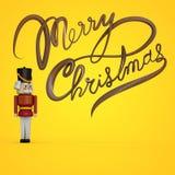 Tarjeta de Navidad con el cascanueces Imagen de archivo libre de regalías