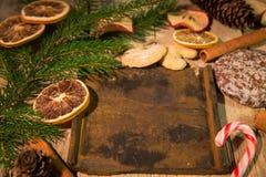 Tarjeta de Navidad con el copia-espacio para el texto Imagen de archivo libre de regalías