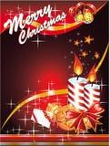 Tarjeta de Navidad con el espacio para el texto Fotografía de archivo