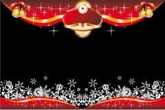 Tarjeta de Navidad con el espacio para el texto Imágenes de archivo libres de regalías