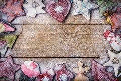 Tarjeta de Navidad con el espacio para el texto Foto de archivo libre de regalías