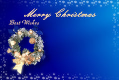Tarjeta de Navidad con el espacio para los deseos Fotografía de archivo libre de regalías
